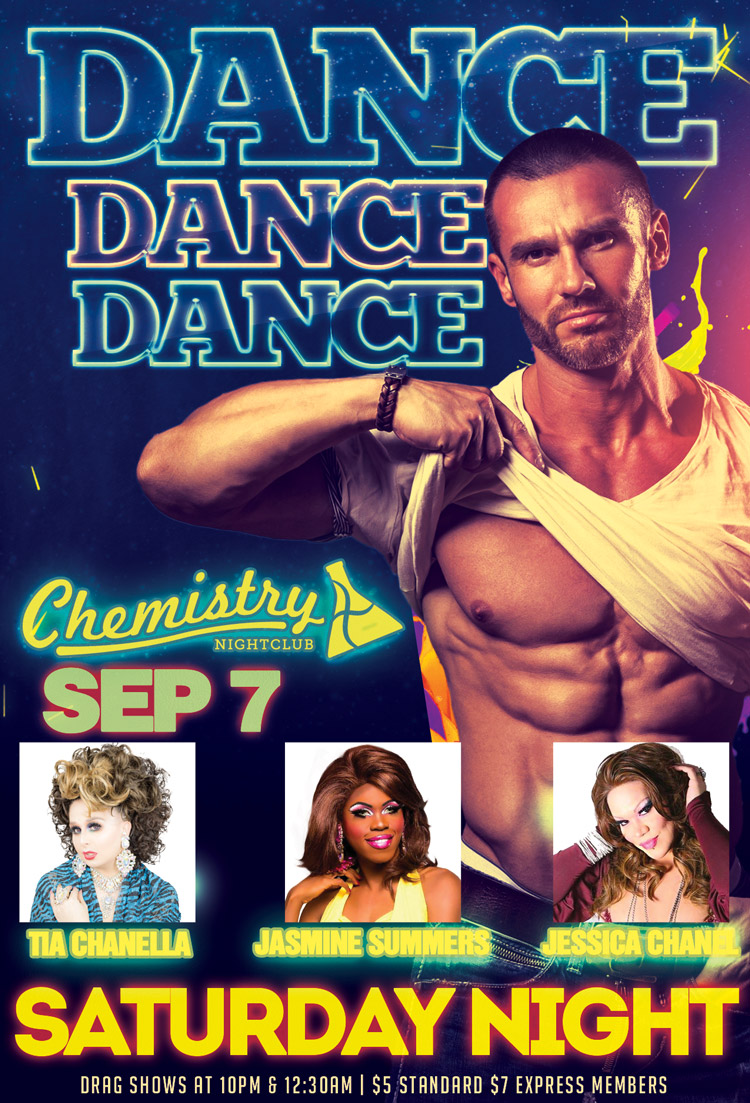 Saturday Dance Party Sep 7 Chemistry